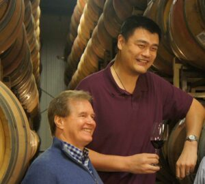 Jay Behmke and Yao Ming
