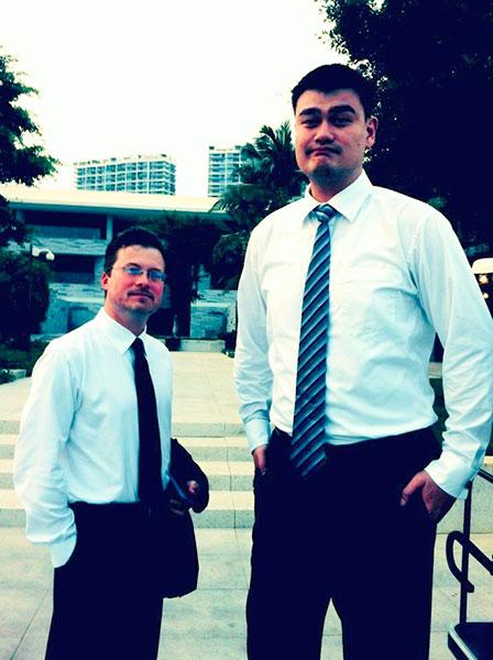 Bill Sanders and Yao Ming
